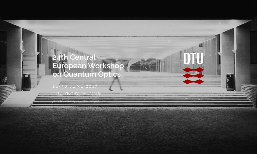 Banner of the 24th Central European Workshop of Quantum Optics 2017 in Denmark