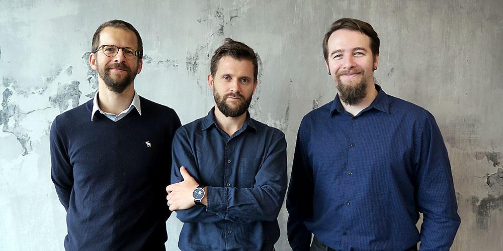 Qnami founders Patrick Maletinsky, Mathieu Munsch, Felipe Favaro