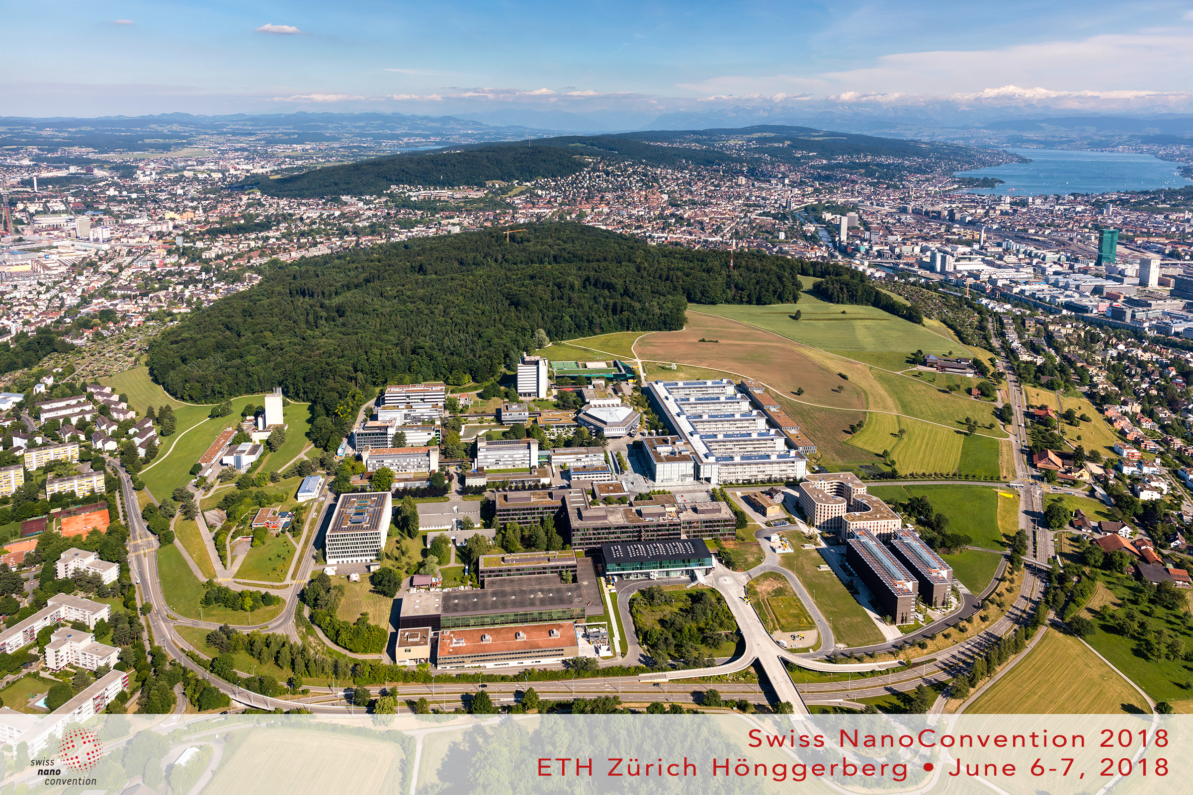 Panorama landscape view over ETH Zürich Hönggerberg for the Swiss NanoConvention 2018