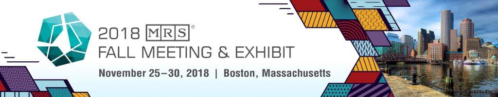 Banner fo the 2018 Fall Meeting & Exhibit in Boston, Massachusetts