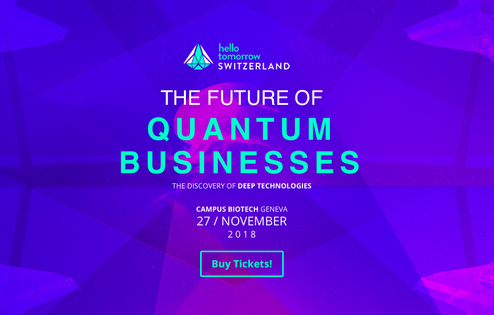 Banner of The Future of Quantum Businesses. The Discovery of deep technologies.