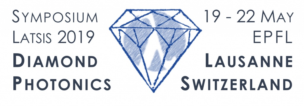 Banner of the Latsis Symposium in Lausanne 2019. Diamond Photonics.