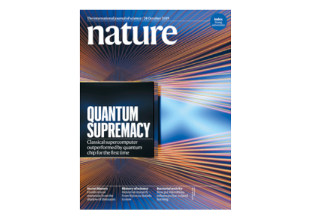 Title page of nature journal - Quantum supremacy