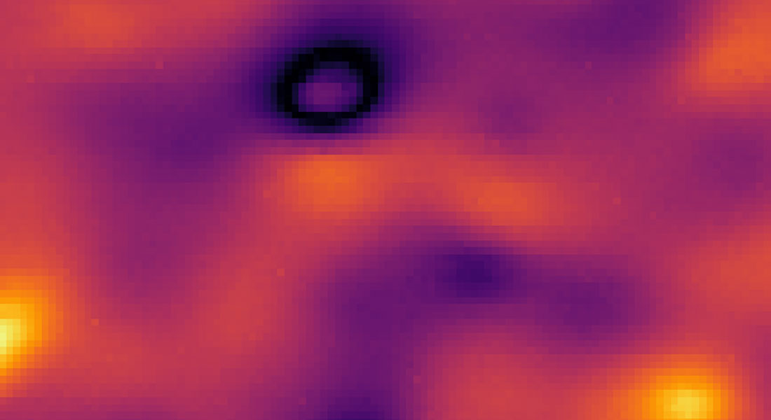 Enlarged image of a probe using Qnami's Scanning NV Microscopy technology